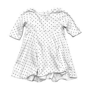 Old Navy White Polkadot Fit & Flare Dress